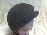 Модная женская кепка  из фетра с ободком, фото 2