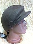 Модная женская кепка  из фетра с ободком, фото 4