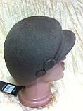 Модная женская кепка  из фетра с ободком, фото 5
