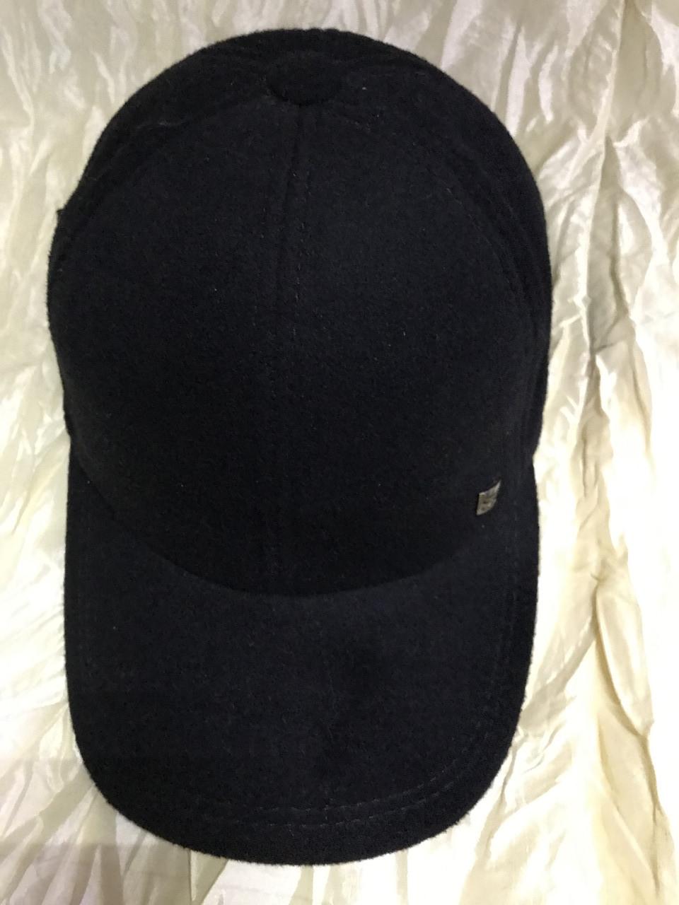 Бейсболка мужская чёрная из шерстяной ткани 56-58-60-62 64  разм