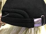 Бейсболка мужская чёрная из шерстяной ткани 56-58-60-62 64  разм, фото 3