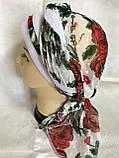Річна бандана-косинка-тюрбан-шапка з об'ємною червоним джгутом, фото 4