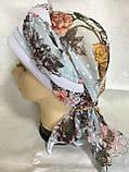 Річна бандана-косинка-тюрбан-шапка з об'ємною червоним джгутом, фото 7