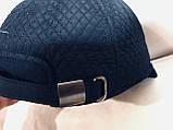 Бейсболка из шерстяного драпа и плащёвки размер 56-58 -60 цвет синий и чёрный, фото 2