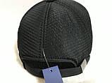 Бейсболка из шерстяного драпа и плащёвки размер 56-58 -60 цвет синий и чёрный, фото 4