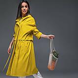 Женский плащ-тренч «Трикси  с капюшоном  S M L желтый салатовый и сиреневый, фото 2