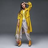Женский плащ-тренч «Трикси  с капюшоном  S M L желтый салатовый и сиреневый, фото 3