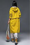 Женский плащ-тренч «Трикси  с капюшоном  S M L желтый салатовый и сиреневый, фото 4