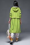 Женский плащ-тренч «Трикси  с капюшоном  S M L желтый салатовый и сиреневый, фото 6