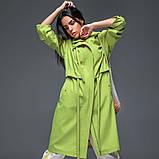 Женский плащ-тренч «Трикси  с капюшоном  S M L желтый салатовый и сиреневый, фото 7