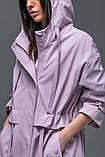 Женский плащ-тренч «Трикси  с капюшоном  S M L желтый салатовый и сиреневый, фото 9