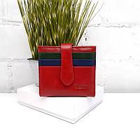Оригинальный женский кошелек натуральная кожа красный Арт.411-6073-2 Sezfert (Китай), фото 1