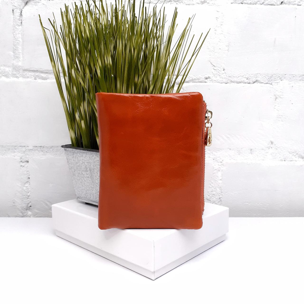 Жіночий шкіряний невеликий гаманець натуральна шкіра Арт.3329 brown (Китай)