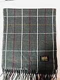 Мужской однотонный классический  тёплый шарф, фото 3