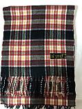 Мужской однотонный классический  тёплый шарф, фото 4