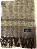 Мужской однотонный классический  тёплый шарф, фото 5
