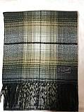 Мужской однотонный классический  тёплый шарф, фото 6