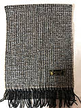 Мужской однотонный классический  тёплый шарф, фото 7