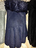 Перчатки женские и подросток из натуральной овчины коричневый, фото 3