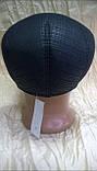 Кепка реглан мужская из плащёвки чёрная в клетку 56 57-58, фото 3