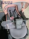 Детская коляска 2 в 1 Classik (Классик) Victoria Gold эко кожа серая с розовый, фото 4