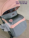 Детская коляска 2 в 1 Classik (Классик) Victoria Gold эко кожа серая с розовый, фото 5