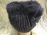 Шапка из норки кошка с ушками и бантом, фото 2