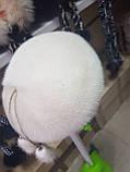 Берет норковый Студент цвет жемчуг, фото 5