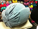 Женская фетровая  шляпа с украшением, фото 2