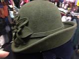 Фетровая  шляпа с полями и с украшением, фото 8