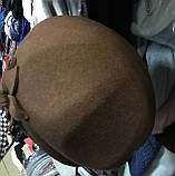Фетровый берет шляпа с ободком  с украшением, фото 2