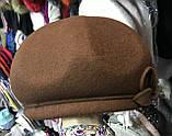 Фетровый берет шляпа с ободком  с украшением, фото 3