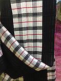 Кашемировый двухсторонний  шарф в клетку  цвет черный с белым, фото 2