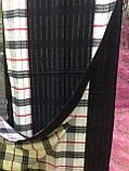 Кашемировый двухсторонний  шарф в клетку  цвет черный с белым, фото 3