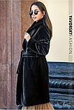 Чорна смушева жіноча шуба розміри: S, M, L, фото 2