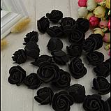 Розы из латекса, синие (ФОМ, FOAM) 500 шт пачка (для мишек), фото 5