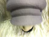 Женская объёмная формованная кепка цвет серо-бежевая, фото 2