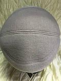 Женская объёмная формованная кепка цвет серо-бежевая, фото 3