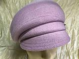 Женская объёмная формованная кепка цвет серо-бежевая, фото 6