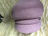 Женская объёмная формованная кепка цвет серо-бежевая, фото 7