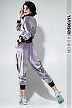 Спортивный молодежный костюм из велюра размеры: S/M, L/X Lцвет светло серый, фото 3