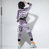 Спортивный молодежный костюм из велюра размеры: S/M, L/X Lцвет светло серый, фото 4