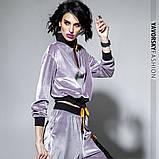 Спортивный молодежный костюм из велюра размеры: S/M, L/X Lцвет светло серый, фото 6