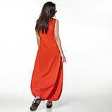 Молодежное платье  лен хлопок размер S, M, L цвет бежевый и красный, фото 5