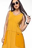 Молодежное платье  лен хлопок размер S, M, L цвет бежевый и красный, фото 8