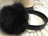 Наушники из меха кролика  цвет чёрный шоколад, фото 2