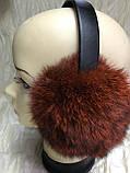 Наушники из меха кролика  цвет чёрный шоколад, фото 7