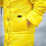 Черная куртка плащевая ткань и эко мех кролик S/M, L/XL, фото 5