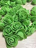 Розы из латекса, бирюзовый (ФОМ, FOAM) 500 шт пачка (для мишек), фото 4