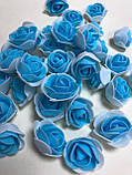 Розы из латекса, бирюзовый (ФОМ, FOAM) 500 шт пачка (для мишек), фото 10
